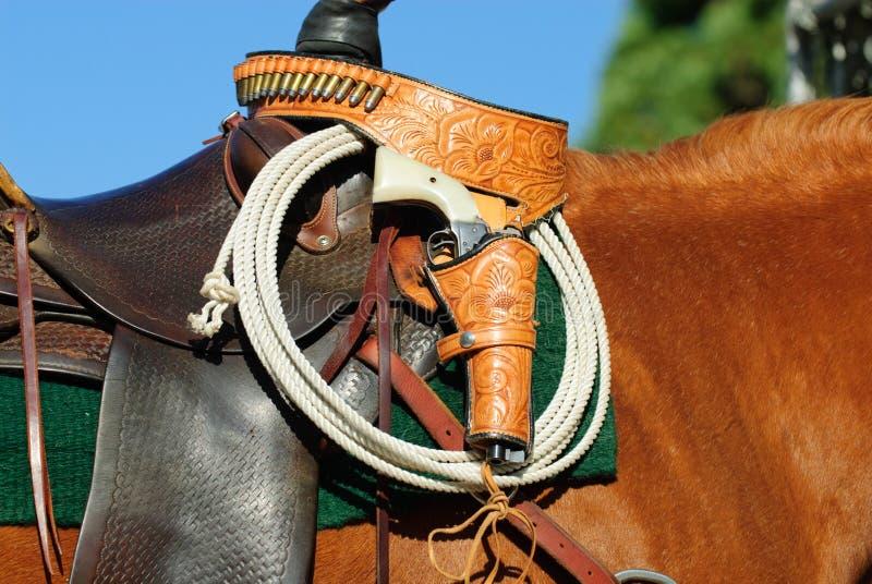 Download Saddle, Rope And Gun Stock Images - Image: 11287834