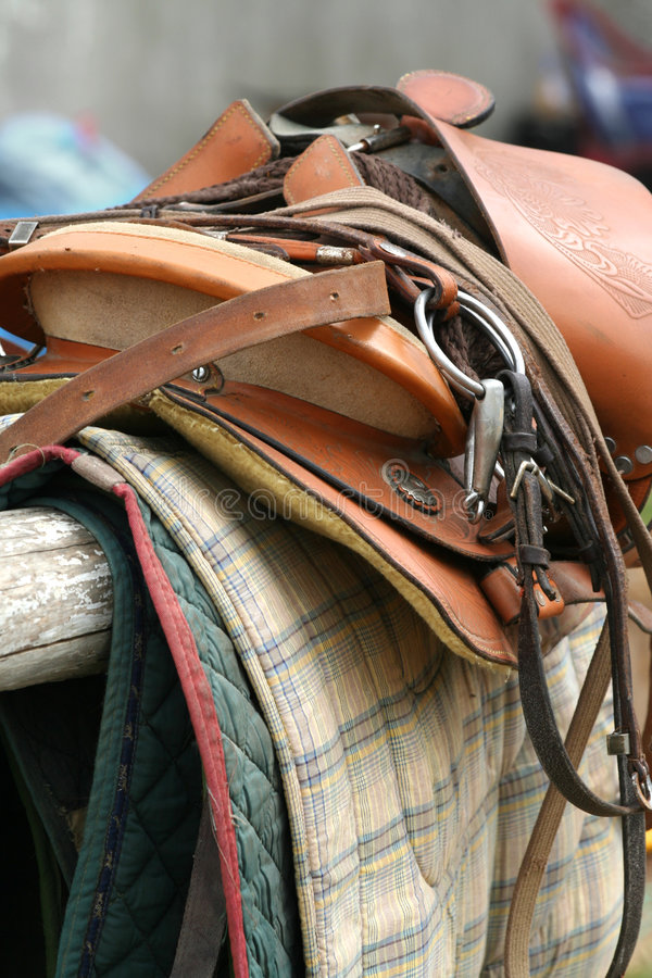 Saddle Up / Horse Equipment. / close-up royalty free stock photography