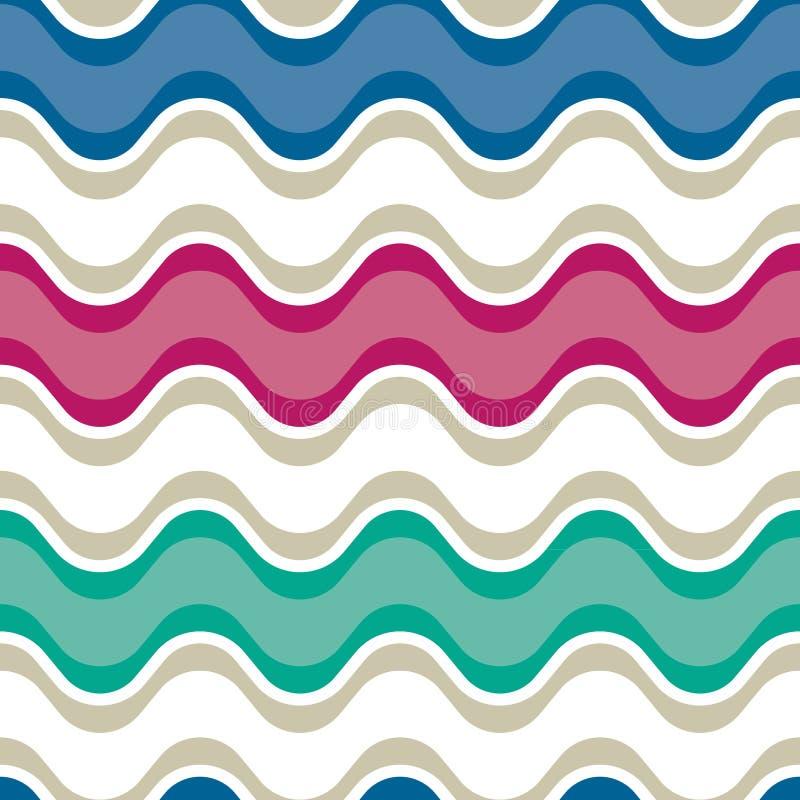 Saddle wave seamless background pattern