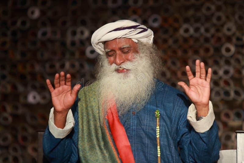 Sadhguru-πορτρέτο στοκ φωτογραφίες