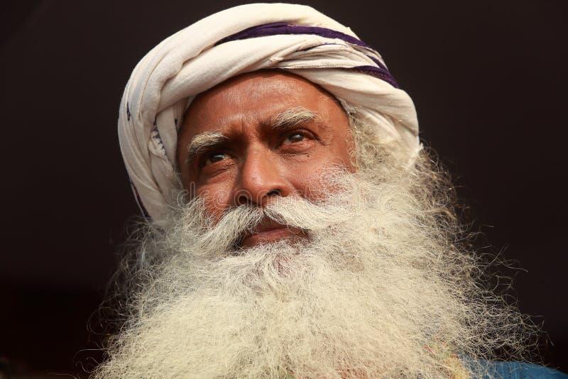 Sadhguru-retrato fotos de archivo libres de regalías