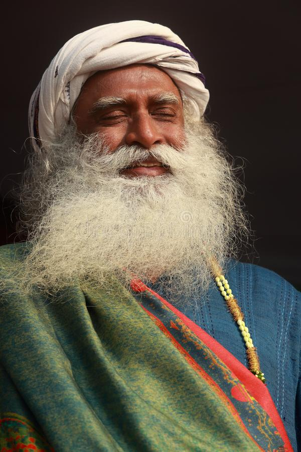 Sadhguru-retrato fotos de archivo