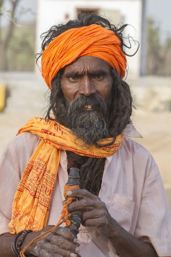 Sadhu, святой человек стоковое изображение
