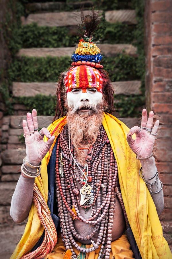 Sadhu au temple de Pashupatinath image stock