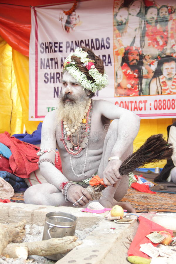 Sadhu Baba. photo stock