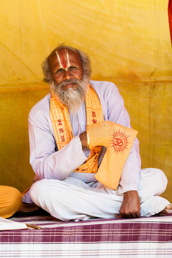 Sadhu Chanting stockfotografie