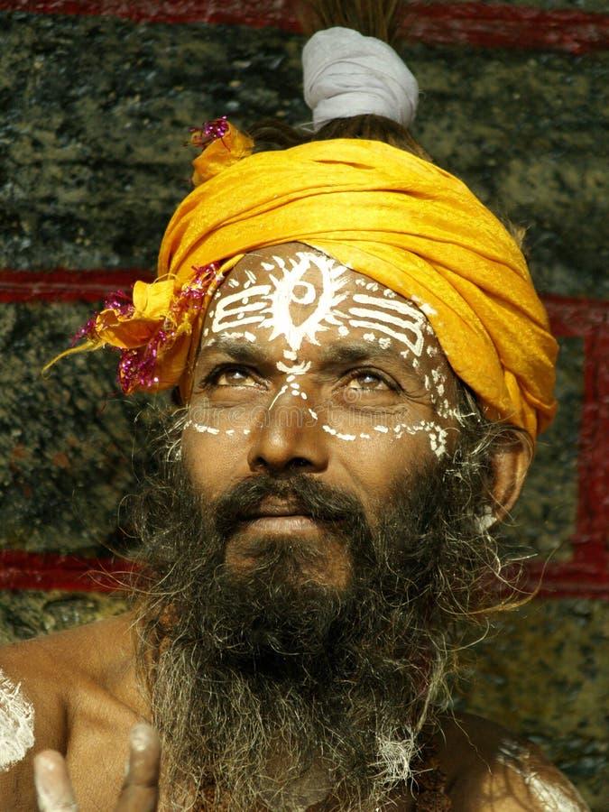 Sadhu dans Shivaratri dans le temple de pashupatinath photos stock