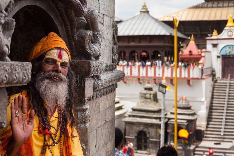 Sadhu em Pashupatinath fotos de stock royalty free