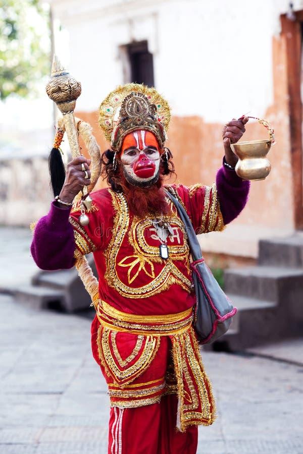 Sadhu Hanuman obraz royalty free