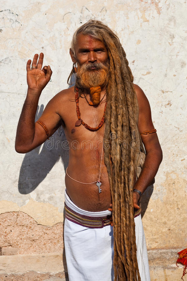 Sadhu (heilige mens) royalty-vrije stock foto