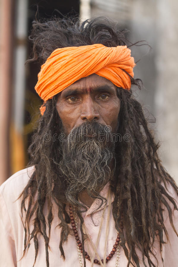 Sadhu, heilige mens royalty-vrije stock foto