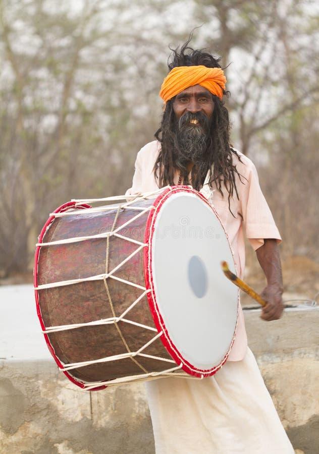 Sadhu, heilige mens stock afbeelding
