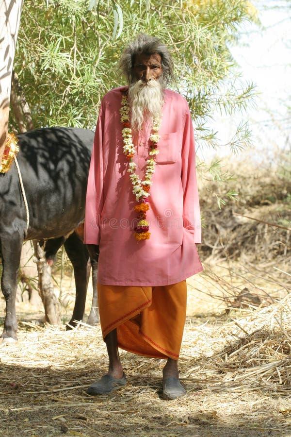 Sadhu, heilige mens royalty-vrije stock fotografie