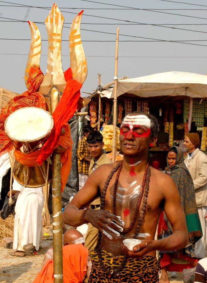 Sadhu Hindu imagem de stock