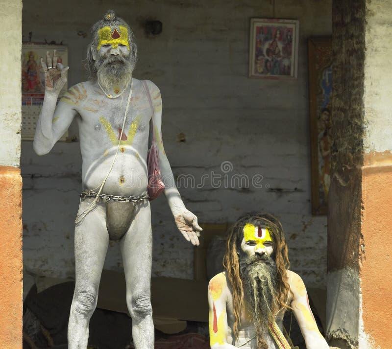 Sadhu Hindu (homens santamente) - Nepal imagens de stock