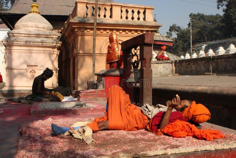 Sadhu (holy man) royalty free stock images