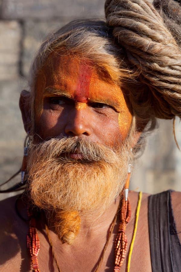 Sadhu (holy man) from Nepal royalty free stock image