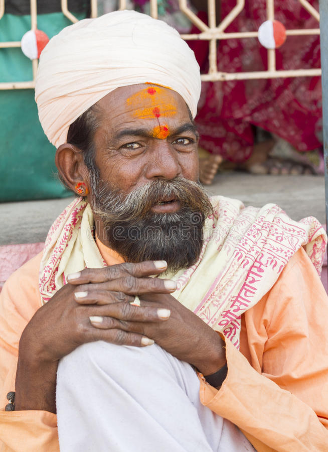 Sadhu, homem santamente foto de stock