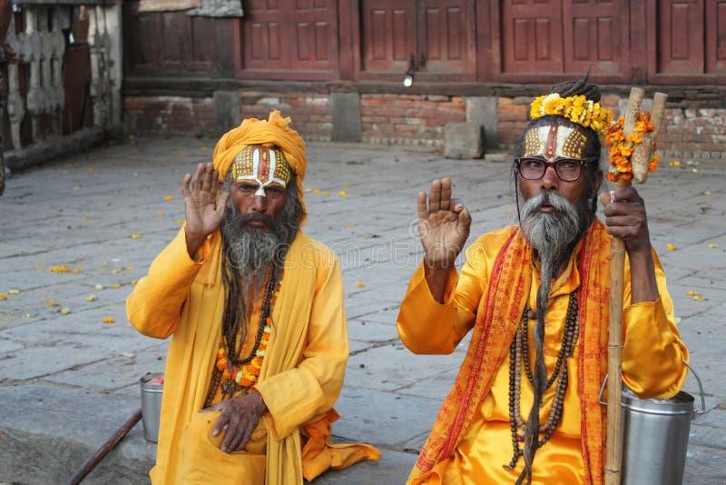 Sadhu (homens santamente) fotografia de stock royalty free