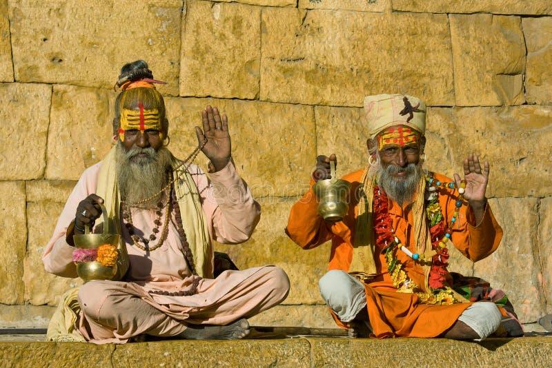 Sadhu indiano fotos de stock