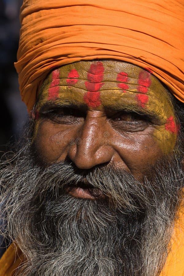 Sadhu indiano (homem santamente) imagens de stock