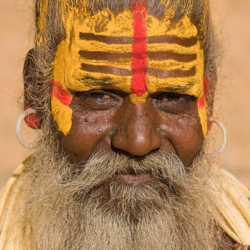 Sadhu indiano (homem santamente) fotos de stock