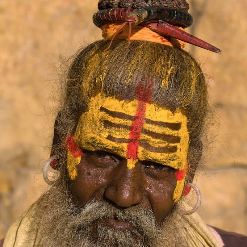 Sadhu indien images libres de droits