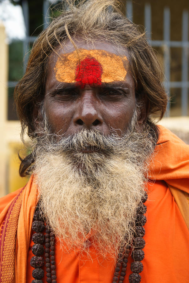 Sadhu indien d'homme saint photo stock