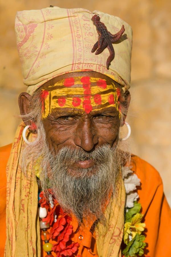 Sadhu indien (homme saint) images libres de droits