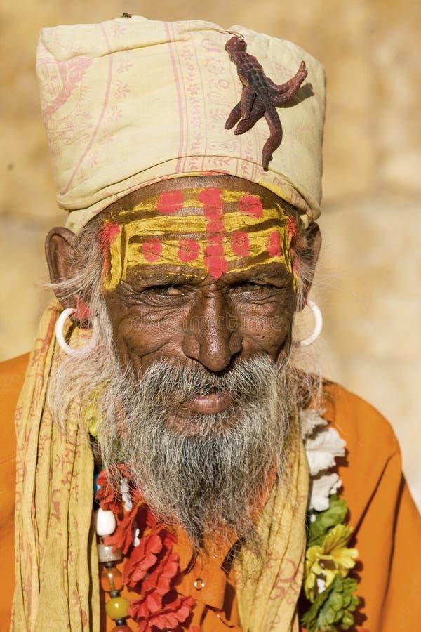 Sadhu indien (homme saint) photo libre de droits