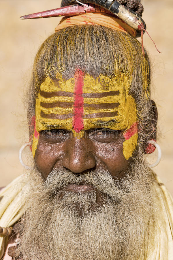 Sadhu indien (homme saint) image stock