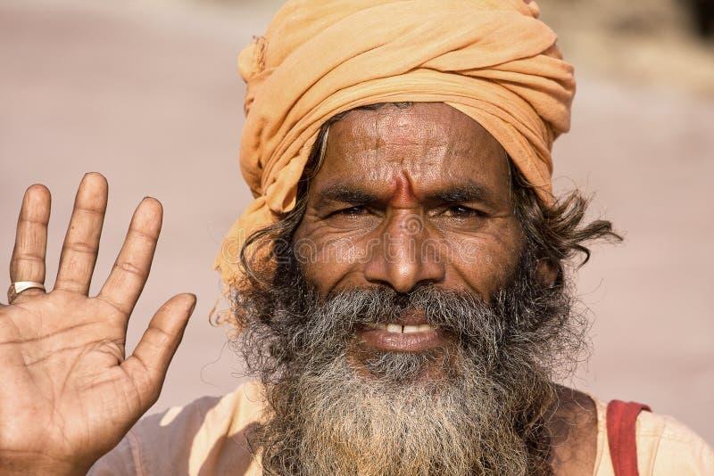 Sadhu indien (homme saint) photos libres de droits