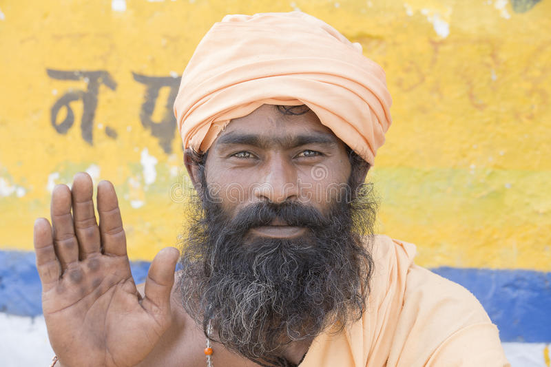 Sadhu indien - homme saint photo libre de droits
