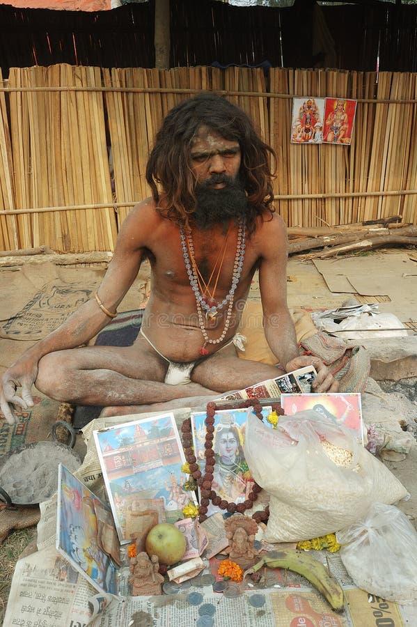 Sadhu indou en Inde. images libres de droits