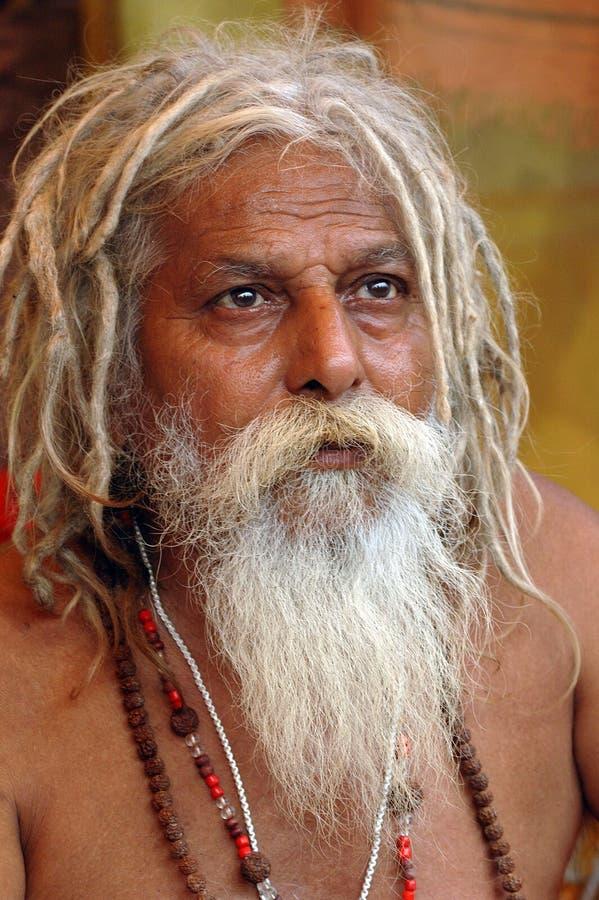 Sadhu indou en Inde photographie stock libre de droits