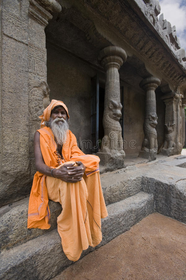Sadhu - Mamallapuram - l'Inde indiens photographie stock