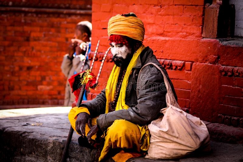 Arresting Sadhus Portrait Photography Religious Photography: Holy Man Of Nepal Editorial Photo. Image Of Nepal, Travel