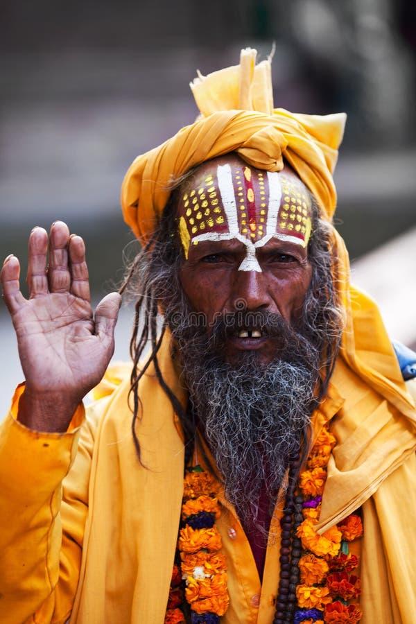 Sadhu, Nepal zdjęcia royalty free