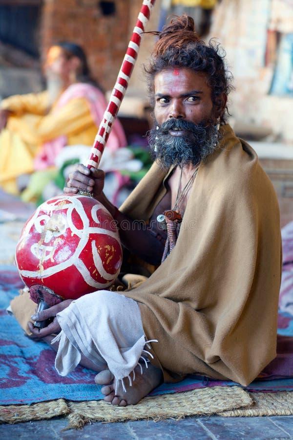 Sadhu, Nepal fotografia royalty free