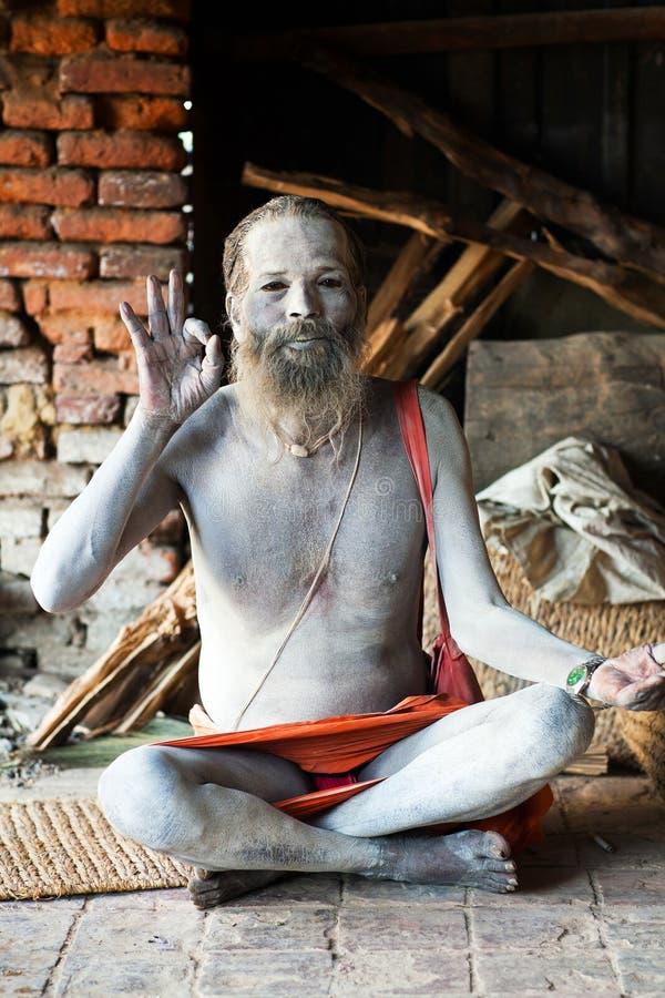 Sadhu, Nepal obraz royalty free