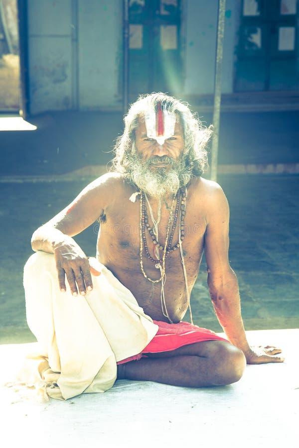 Sadhu ou homme saint, Jaipur, Inde photo libre de droits