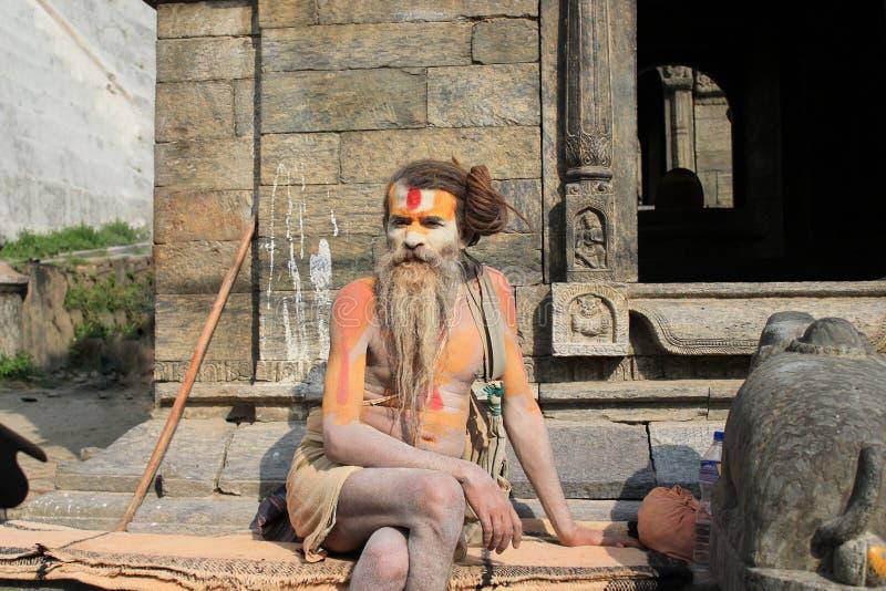 Sadhu (Shadhu, homem santamente) imagem de stock royalty free