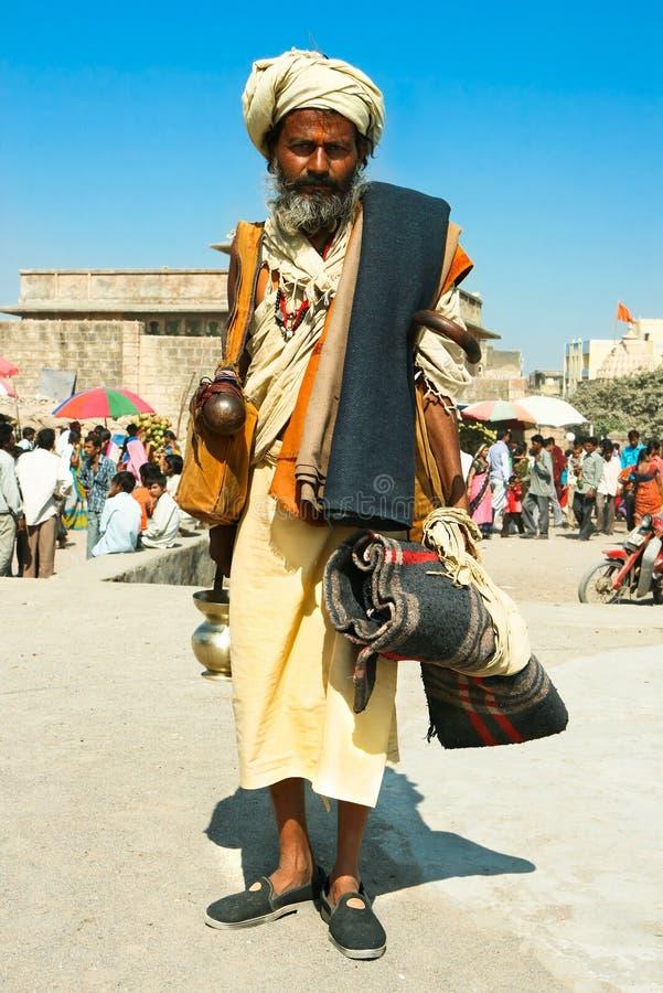 Sadhu spirituel de Shaiva de gourou (homme saint) photographie stock libre de droits