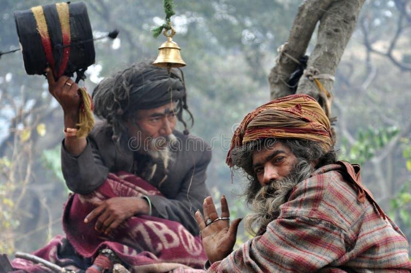 Sadhu (uomo santo) dall'India immagine stock