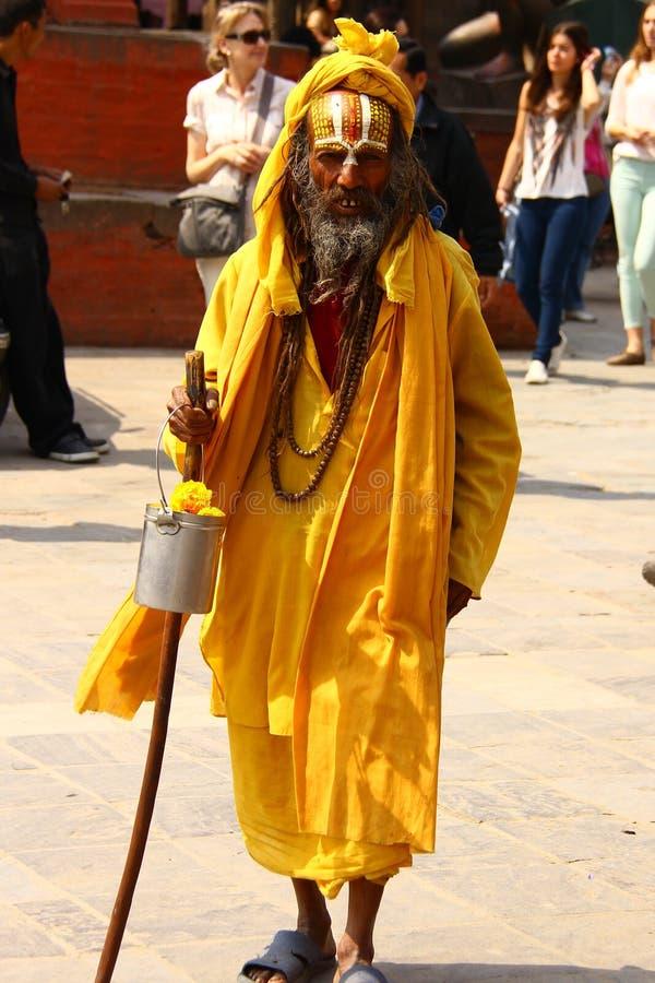 Sadhu van Shaiva in Nepal royalty-vrije stock afbeelding