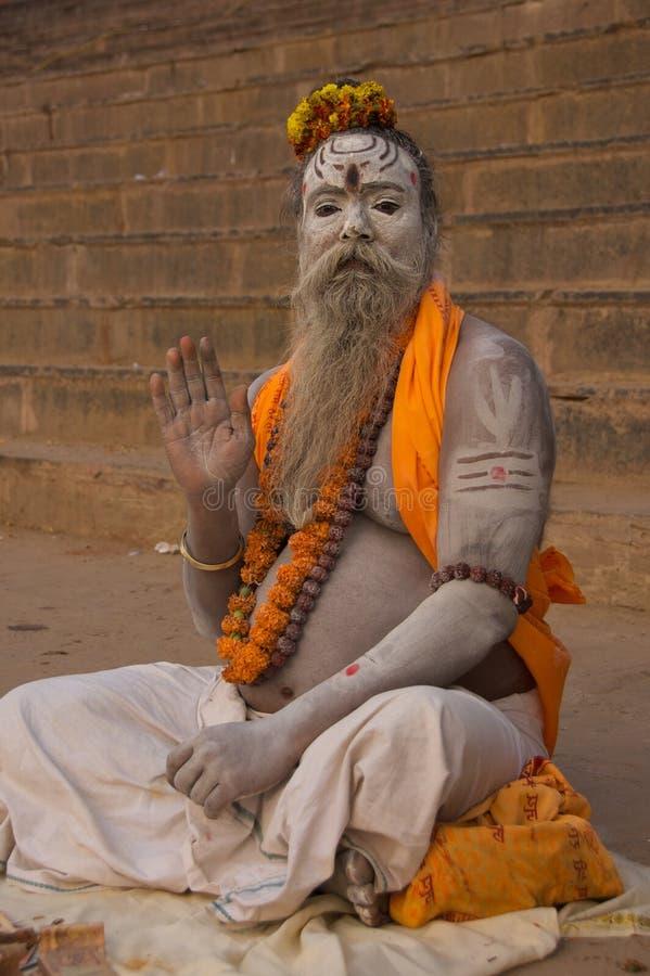 Sadhu in Varanasi, India stock images