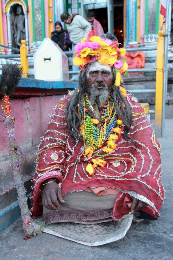 Sadhu velho. imagens de stock