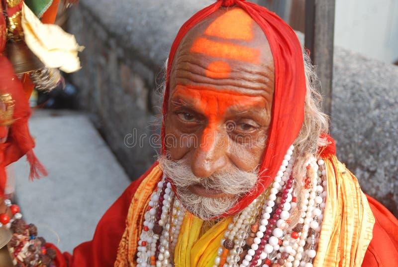 Sadhu w Haridwar Uttarakhand India zdjęcia stock