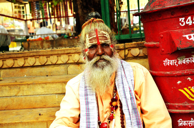 Sadhus, Holy Men of India. India: Sadhus are the holyman of india, however how much they are true or not. no body can say. but still have power of leaving a long stock photo