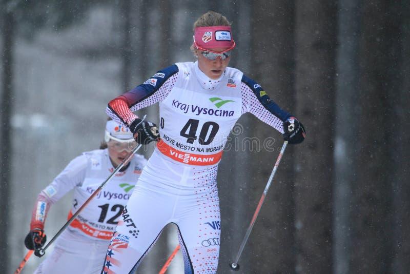 Sadie Bjornsen - esquí del campo a través fotografía de archivo